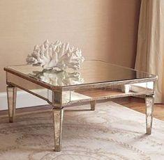 52 Classic Glass Coffee Table Design Ideas Make Your Living Room Elegant Looks Mirrored Sofa Table, Mirrored Furniture, Home Furniture, Furniture Design, Glass Furniture, Entry Furniture, Furniture Movers, Furniture Ideas, Arquitetura