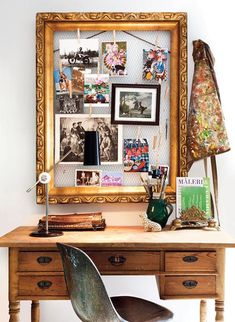 What a pretty photo frame idea!