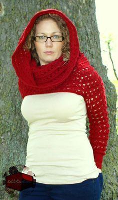 Modern Red Riding's Hood - Free crochet pattern by KatiDCreations. Size medium (adjustable).