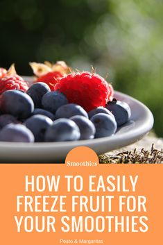 Fruit for smoothies can often go off before you use it all.  But this doesn't need to be the case because you can easily freeze fruit to prolong its lifespan and have it ready when you need it.  Click to get instructions for popular smoothie ingredients including bananas, kiwis and berries #smoothies #smoothiemaking #fruit #freezefruit
