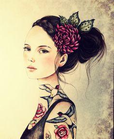Claudia Tremblay  Juana with roses