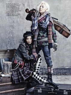 THE SHARPER: G-Dragon & Sung Hee Kim by Bo-Sung for Vogue Korea August 2013
