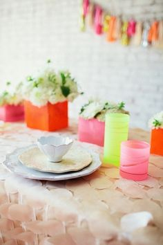 Neon and Neutral Wedding Inspiration