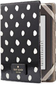 Kindle Fire cover by Kate Spade New York~black with polka dots