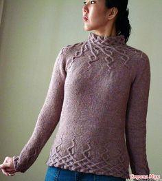 "Ура!!! нашла описание на русском языке к азиатской модели. Пуловер""Глициния"". Спицы. Cable Knitting, Sweater Knitting Patterns, Knit Patterns, Hand Knitting, Girls Sweaters, Sweaters For Women, Winter Fashion Outfits, Knit Fashion, Crochet Yarn"