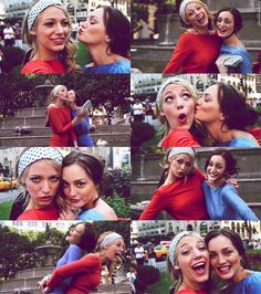 Blake Lively and Leighton Meester Gossip Girl Blair And Serena Serena Van Der Woodsen, Blair Waldorf, Blake Lively, Serena And Blair, Friends Forever, Best Friends, Estilo Gossip Girl, Gossip Girl Serena, Lying Game