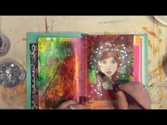 How to Art Journal Mixed Media Speed Process - Star Girl