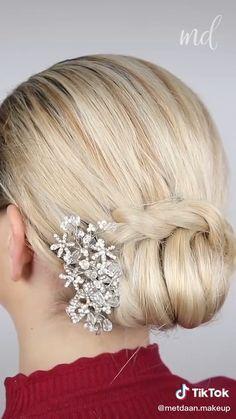 Low Updo Hairstyles, Work Hairstyles, Hairstyle Men, Style Hairstyle, Hairstyles 2018, Wedding Hairstyle, Simple Updo Tutorial, Gents Hair Style, Medium Hair Styles