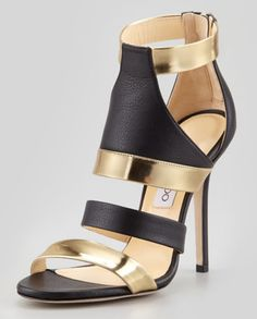 "Jimmy Choo ""Besso"" mixed leather sandal from spring/summer 2013 collection."