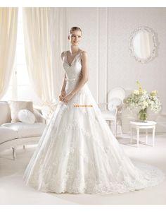 Spitzen-Looks Frühling Reißverschluss Brautkleider 2014