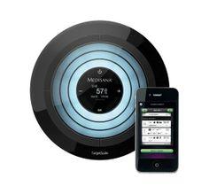 Medisana Target Scale Ultra Modern Iphone İle Entegre Tartı kilo hedefinize ulaşmanızı hızlandıran yenilikçi bir teknolojidir. Vücut Kas ve Kemik oranı, su oranı, kütle oranı ve hassas kilo ölçümünü yapan mucizevi tartı hedef kilo ile mevcut kilo arasındaki farkı flaş şeklinde göstermektedir.%20 indirim ve taksit seçenekleri ile Kozimo'da. http://www.kozimo.com/medisana-target-scale-ultra-modern-iphone-ile-entegre-tarti