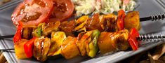 Easy Barbecue Kabobs recipe from Dole Pineapple