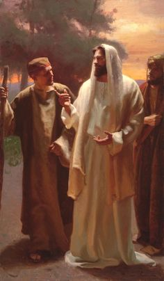 The resurrected Christ walks with two men on the road to Emmaus. He blesses and breaks bread with them, and then vanishes from sight. Their hearts burned within them. http://youtu.be/8YlzWPPiH4A Enjoy more inspiring images, scriptures, and uplifting messages about the Lord Jesus Christ http://facebook.com/173301249409767 Enjoy more from the Holy Bible http://facebook.com/212128295484505 #sharegoodness; #passiton.