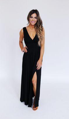 Dottie Couture Boutique - Solid Black Maxi Dress , $34.00 (http://www.dottiecouture.com/solid-black-maxi-dress/?fullSite=1/)