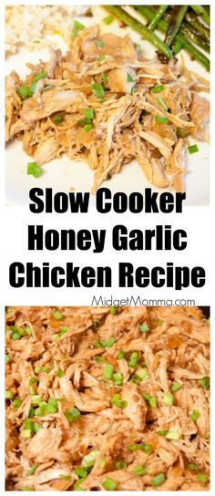 Get out that slowcooker and toss in this Slow Cooker Honey Garlic Chicken. Easy to make dinner and this Slow Cooker Honey Garlic Chicken is soooo good!