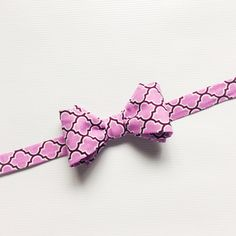 Purple Bow Tie Purple Patterned Bow Tie Mens by LoveCrushDresses