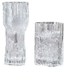 Tapio Wirkkala Two Glass Vases