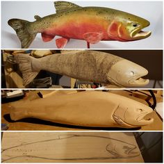 Meant as a fundamental course, this is an introduction to the tools, abilities, techniques and styles of woodcarving needed by anybody wanting to take. Fish Wood Carving, Simple Wood Carving, Wood Carving Designs, Wood Carving Patterns, Wood Carving For Beginners, Whittling Projects, Tree Coloring Page, Wood Fish, Lure Making