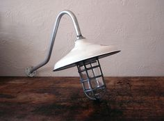 Vintage Explosion Proof Industrial Nautical Gas Station Barn Light Lamp 12"