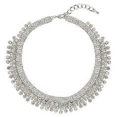 Mikey Silver Tone Crystal Necklace http://pixiie.net/shop