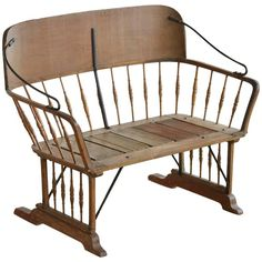 Antique Buggy or Sleigh Seat Bench with Iron Works | 1stdibs.com