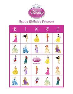 Disney Princess Personalized Birthday Party Game Activity Bingo Cards   eBay