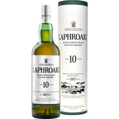Laphroaig Single Malt peated Whisky from Islay. The most richly flavoured scotch whisky in the World. Bourbon Drinks, Whiskey Cocktails, King George, Whisky Single Malt, Johnnie Walker, Strong Drinks, Shops, Scotch Whiskey, Whiskey Sour