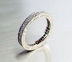 Diamond band with custom engraving #wedding #ring
