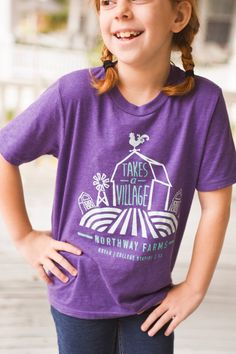 "Most comfy KIDS t-shirt ever. Northway Farms ""Takes a Village"" children's shirt."