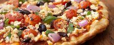 Πίτσα με Φέτα και Λουκάνικο: Η συνταγή | Συνταγή Pizza Legume, Veggie Pizza, Healthy Pizza, Healthy Soup, Healthy Smoothies, Healthy Snacks, Healthy Eating, Chicken Pizza, Feta Pizza