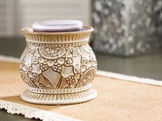 Vintage Lace Scent Pod Warmer #gold canyon