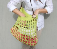 Amp up your style on outings to the market with a handy, hand-crocheted tote. #Etsy