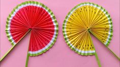 Cute Paper Pop Up Fans /DIY Watermelon Hand Fans |making paper fan /how ...