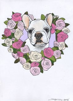 Sketch of a French Bulldog Puppy from the sketchbook of Jeroen Teunen / The Dog Painter