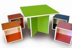 color table and box seating area
