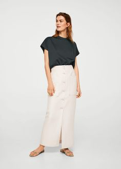 f8be6696680f5 linen pocket skirt - Mango committed collection  sustainablefashion   affiliatelink  linen  skirt