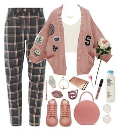 """""""Breakfast Club"""" by milean ❤ liked on Polyvore featuring North, Illesteva, River Island, Mansur Gavriel, WithChic, Charlotte Tilbury, Lime Crime, Humör, Marc by Marc Jacobs and Vivienne Westwood"""
