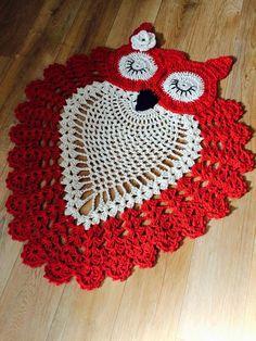 "Crochet [ ""I would choose a different color other than red."" ] # # #Crochet #Owls, # #Crochet #Crafts, # #Crochet #Doilies, # #Crochet #Ideas, # #Crochet #Kitchen, # #Beautiful #Crochet, # #Owl #Pillows, # #Bathroom #Sets, # #Like"