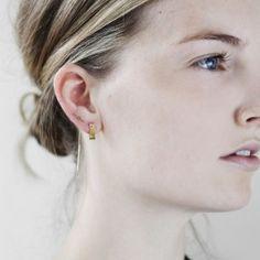 Twig Chain Earring Silver