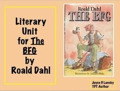 Here is a literary unit for the complete novel The BFG. The colorful unit includes discussion questions, vocabulary activities, achievement question in reading and math that relate to the novel, projects for students to complete, research and writing assignments.