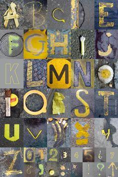 ALPHABITUMES yellow  Les ALPHABITUMES sont des lettres captées  sur le bitume !