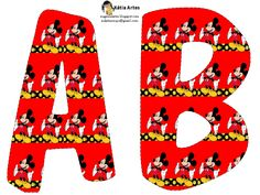 KATIA ARTES - BLOG DE LETRAS PERSONALIZADAS E ALGUMAS COISINHAS: Alfabeto mickey