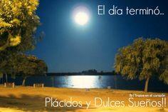 El día terminó...plácidos y dulces sueños! @trazosenelcorazon