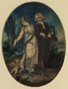 """Man and Woman Walking Arm in Arm"" by John Hodges Benwell (1799) at the Courtauld Gallery, London"