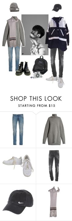 """The8 (SEVENTEEN)"" by mgx-dark-queen ❤ liked on Polyvore featuring Dolce&Gabbana, Raey, NIKE, Dsquared2, AMI, V AVE SHOE REPAIR, men's fashion, menswear, Winter and kpop"