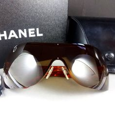 c78e0877049 Chanel 4126 c.296 73 120 Quilted Arms Shield Sunglasses w Box Case Bag    Papers