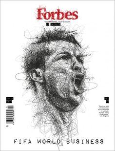 "#MagLove: ""The maddest Kardashian Kover ever!"", 6 June 2014. FORBES (Spain), 10 June 2014: Cristiano Ronaldo."