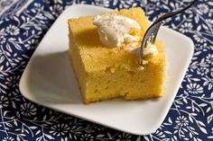 This moist cornbread recipe recipe has cornmeal, flour, eggs, and milk and is great served with chili or used in a cornbread stuffing for Thanksgiving.