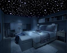 home Bedroom Dark - Removable Decal Art Mural Home Kids Bedroom Decor Wall Sticker Dark Stars NEW Star Bedroom, Room Ideas Bedroom, Home Bedroom, Kids Bedroom, Modern Bedroom, Bedroom Themes, Contemporary Bedroom, Kids Rooms, Dark Bedrooms
