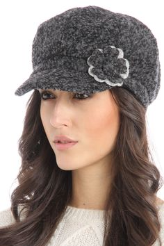 Marjory Hat In Black And Gray